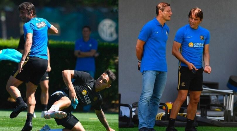Inter, Conte schiva i tackle e si confronta con Zanetti