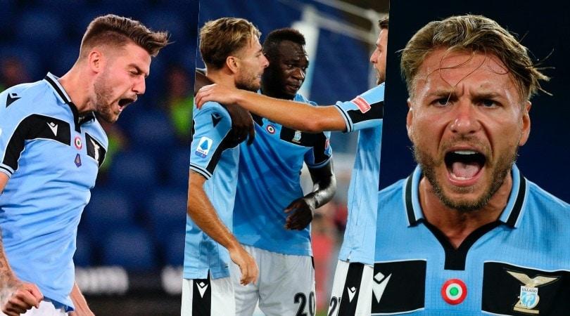 Lazio vincente con il Cagliari: Milinkovic-Immobile gol ed è quarto posto