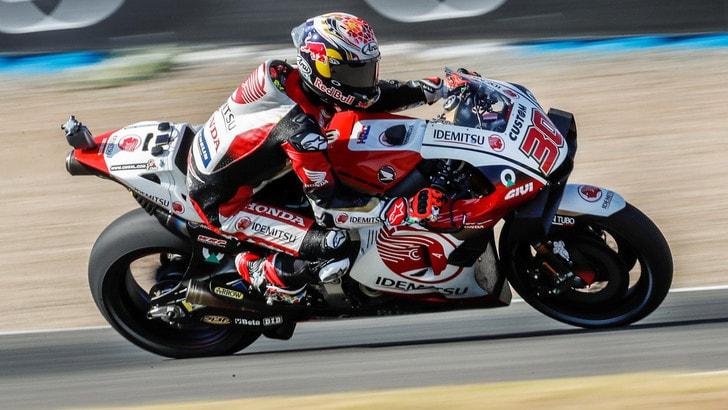 Gp Andalusia, Nakagami domina le seconde libere, passo indietro di Rossi, ottavo