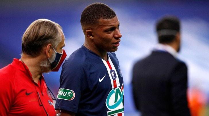 Mbappé, niente Atalanta: lo stop è di tre settimane