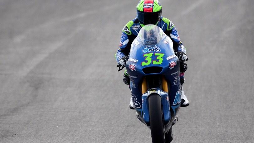 Gp Andalusia: pole di Bezzecchi in Moto2, Bastianini terzo