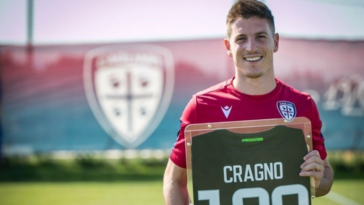 Cragno fa 100 e il Cagliari lo premia con una maglia speciale