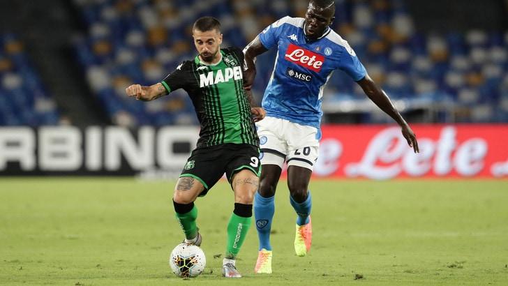 Napoli-Sassuolo 2-0, il tabellino