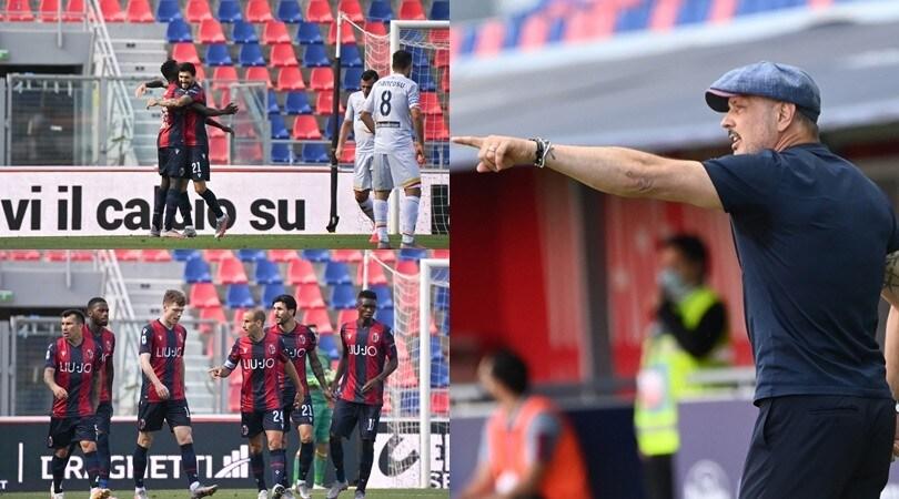 Palacio-Soriano-Barrow, Mihajlovic esulta per un Bologna da record