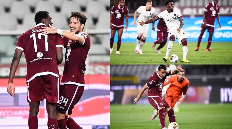 Torino-Roma è la festa del gol: prima gioia per Singo
