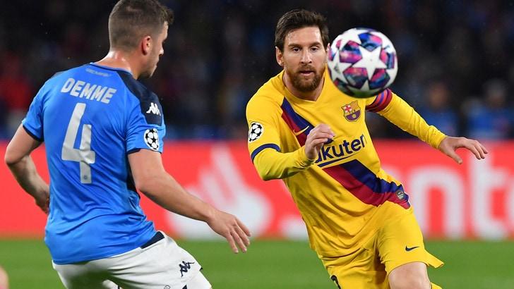 """La Uefa: """"Barcellona-Napoli di Champions si giocherà in Spagna"""""""