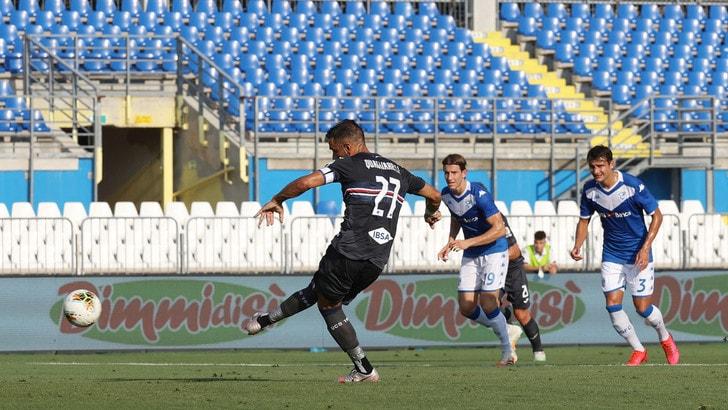 Brescia-Sampdoria 1-1: gol di Leris e Torregrossa. Rimpianto Quagliarella
