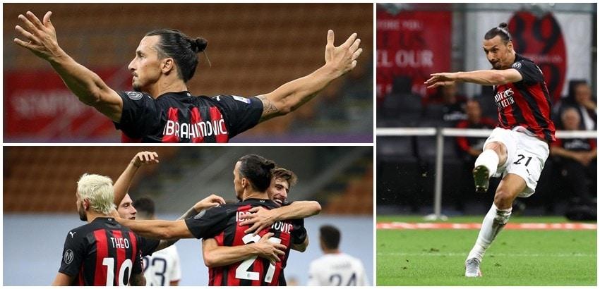 Ibrahimovic trascina il Milan: Cagliari ko!