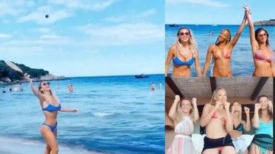 Diletta Leotta e amiche al mare: estate bollente