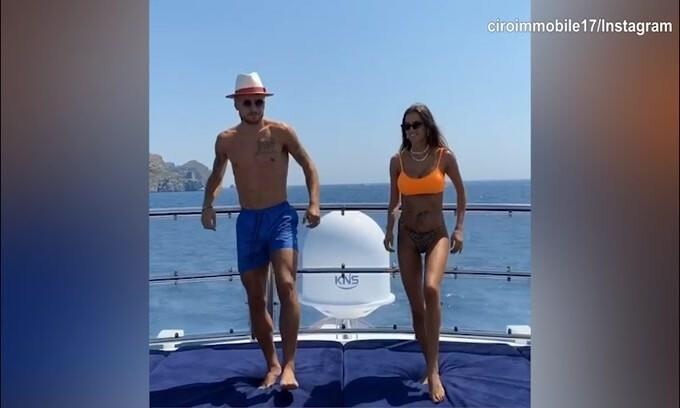 Lazio, ecco i ballerini: sono Immobile e Jessica!