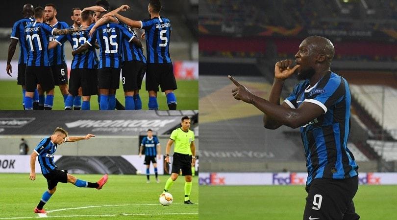 Gioiello di Barella, Lukaku esulta col ciuccio: l'Inter è in semifinale di Europa League