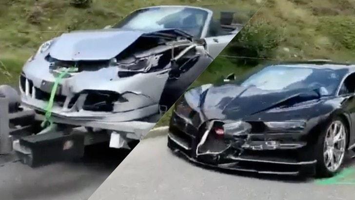 Bugatti Chiron-Porsche 911 si scontrano: danni per 3,5 milioni di euro