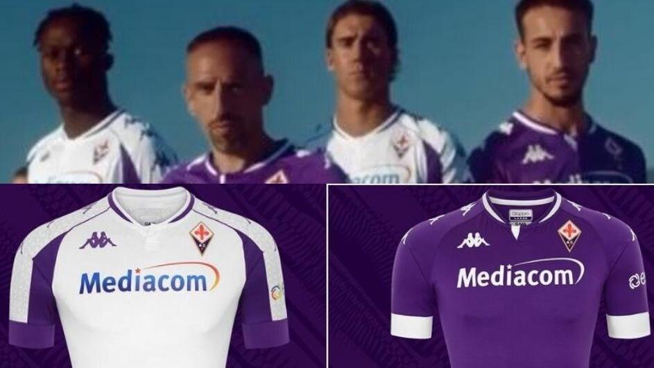 Fiorentina, ecco le nuove divise con Ribery e Castrovilli