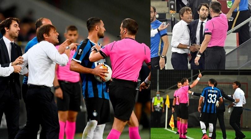 Inter, furia Conte: litiga con Banega e si becca il giallo