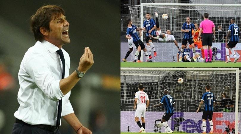 Inter, Lukaku beffa Handanovic: sfuma il sogno di Conte. Fa festa il Siviglia