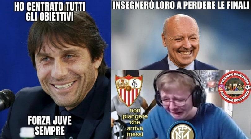 Inter ko in finale di Europa League: per Conte sfottò e ironie sui social