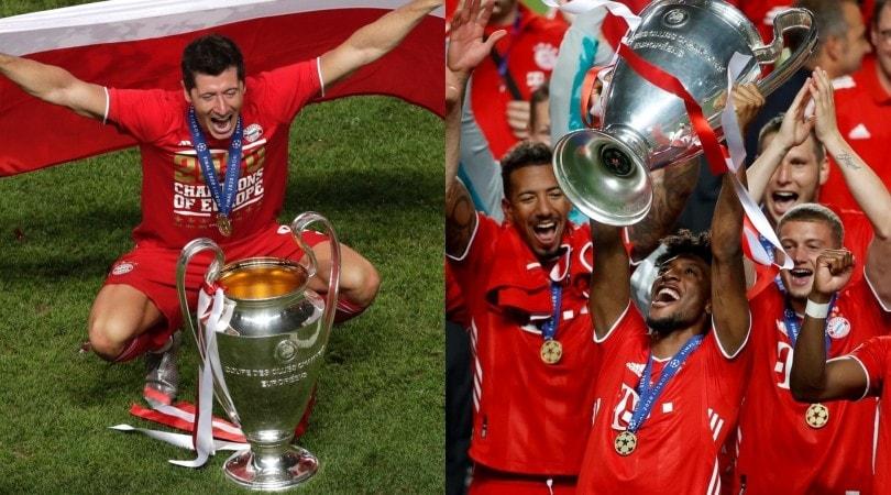 Da Lewandowski a Coman, il Bayern posa con la Champions League
