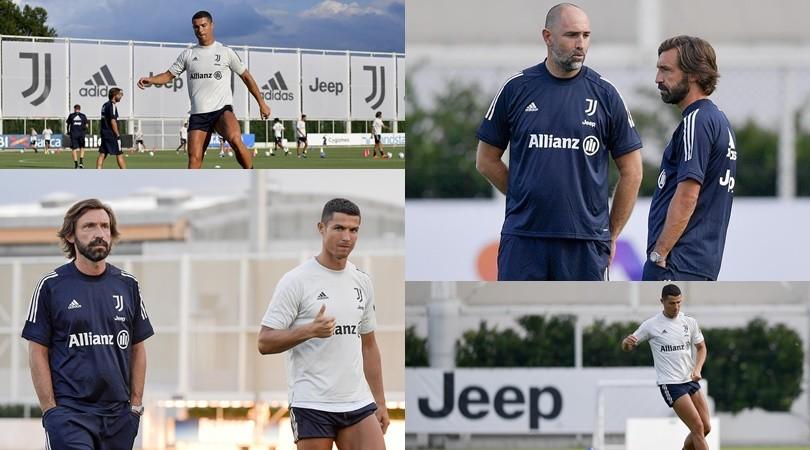 Juve, al via la nuova stagione: tra Pirlo e Ronaldo è subito feeling