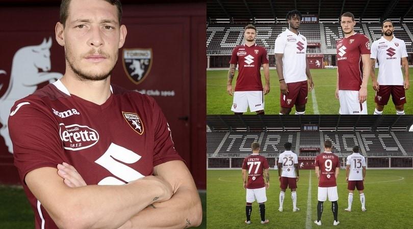 Torino, ecco le nuove maglie: Linetty e Rodriguez posano con Belotti e Meité