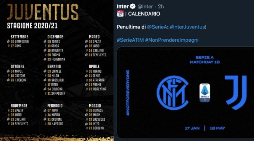 Il calendario Serie A 2020/21 di ogni squadra