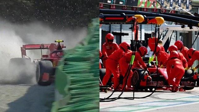 Monza amara per le Ferrari, fuori sia Vettel che Leclerc