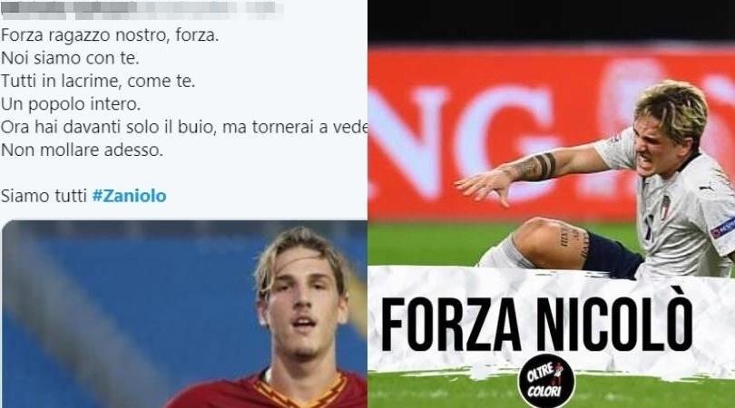 """Zaniolo infortunato, gli auguri social da tutta Italia: """"Forza Nicolò"""""""