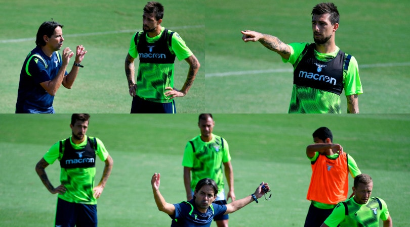 Lazio, Acerbi e Simone Inzaghi a colloquio