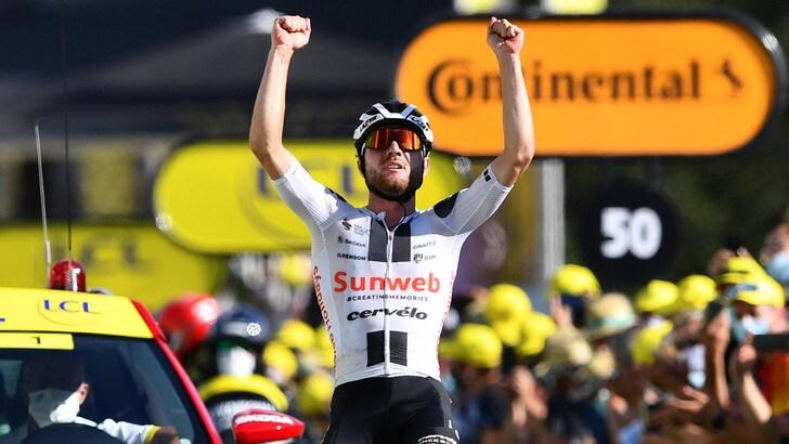 Va a Hirschi la 12ª tappa del Tour de France. Roglic resta leader