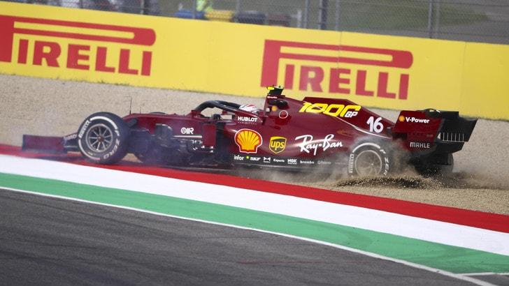 GP Toscana: le Mercedes comandano nelle seconde libere, Leclerc decimo