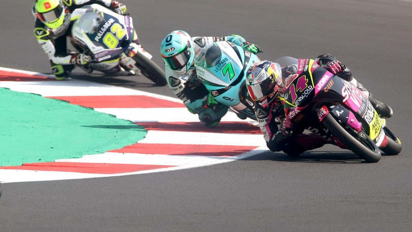 Gp San Marino: vittoria con rimonta per McPhee in Moto3, Arbolino 6°