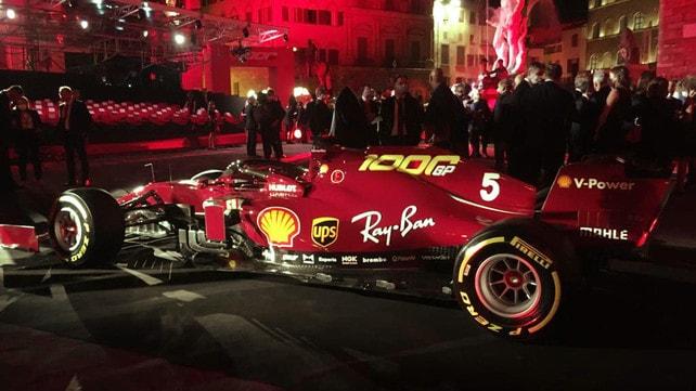 Ferrari, a Piazza della Signoria festa rossa per i mille Gran Premi