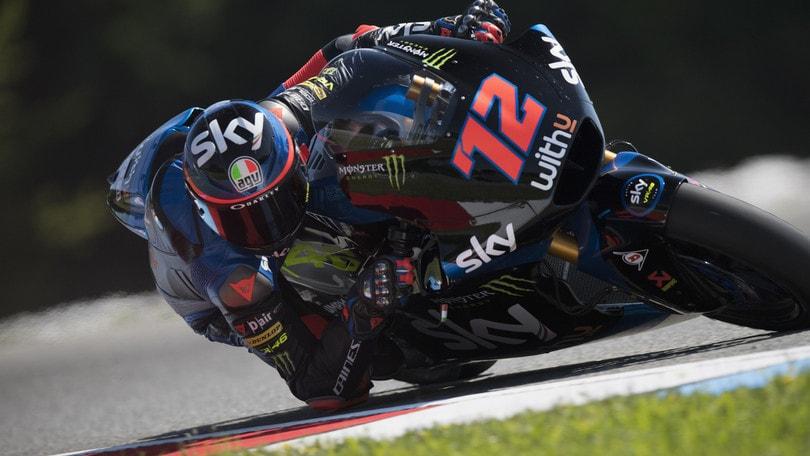 Gp San Marino, tripletta italiana in Moto2: Marini precede Bezzecchi, Bastianini 3°