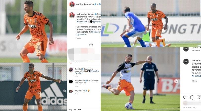 Da Bonucci a Ramsey, la Juve esulta sui social per il 5-0 al Novara