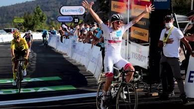 Tour - 15ª tappa: Pogacar trionfa su Roglic
