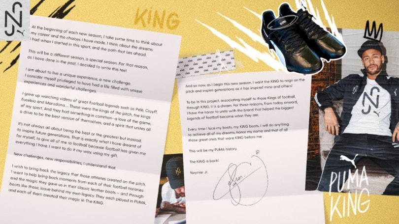 """The king is back"": PUMA e Neymar jr insieme per lungo tempo"