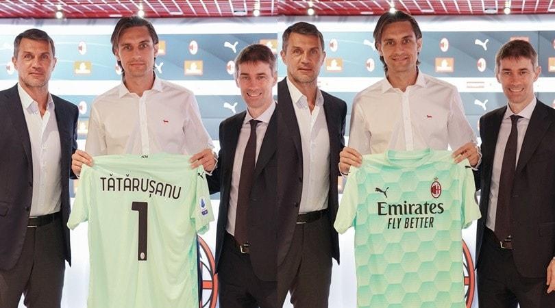 Milan, Maldini e Massara presentano il nuovo acquisto Tatarusanu