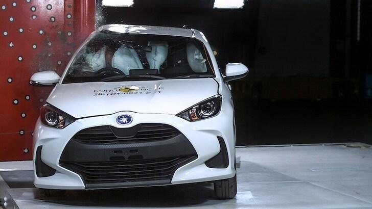 Toyota Yaris è la prima del 2020 con 5 stelle ai crash-test EuroNCAP