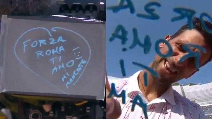 Djokovic, la dedica dopo la partita: