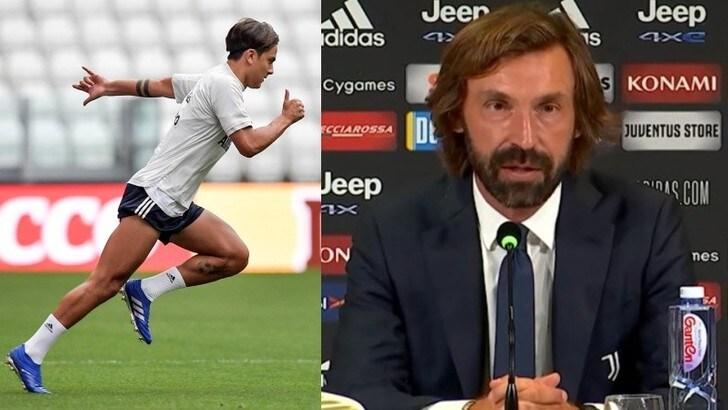 """Pirlo, il centravanti e Dybala: """"Può fare tutto"""""""