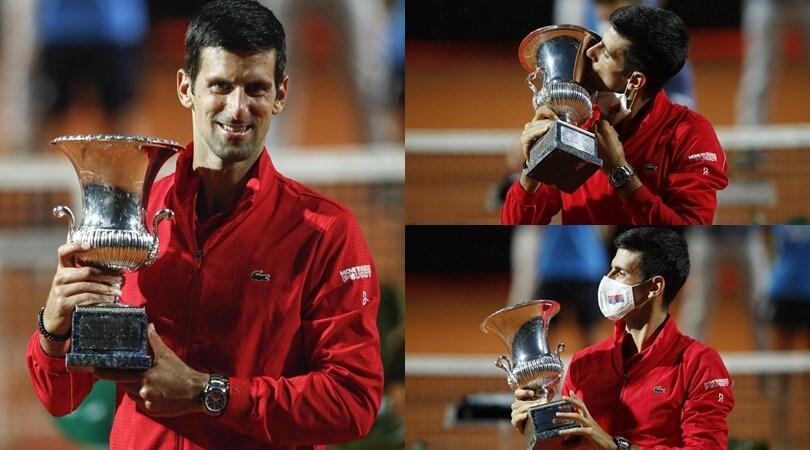 Djokovic, le immagini del 5° trionfo agli Internazionali