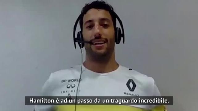 """Ricciardo: """"Hamilton, giù il cappello! Ma lo invidio..."""""""