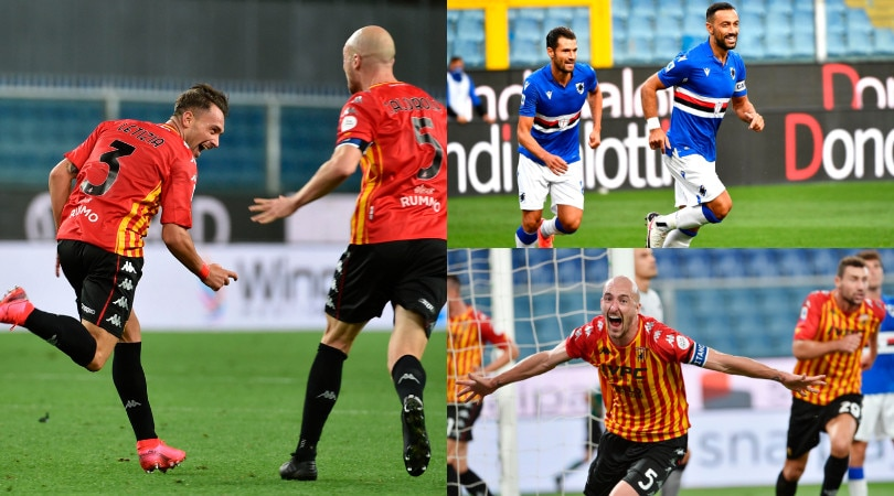 Benevento, che rimonta contro la Sampdoria! Per Inzaghi arrivano i primi tre punti
