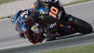 Gp Catalogna: Luca Marini vince in Moto2, terzo Di Giannantonio