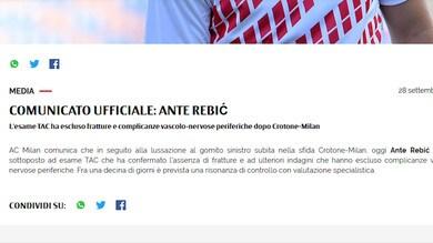 Milan, nessuna frattura al gomito per Rebic