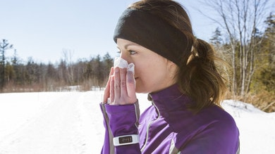 Raffreddore e sintomi influenzali, si può correre?