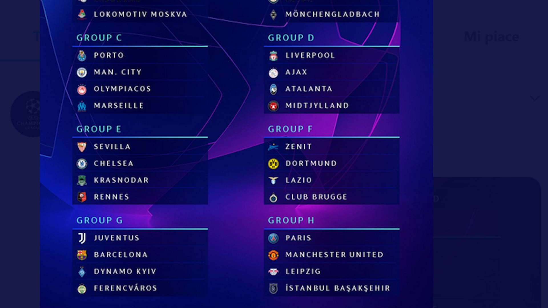 Champions League, urna benevola per le italiane
