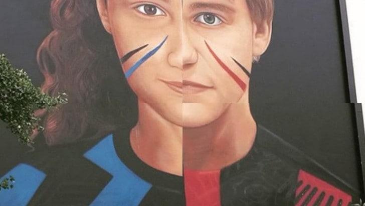 Il murales di Jorit per Inter-Milan: due bambini divisi ma uniti
