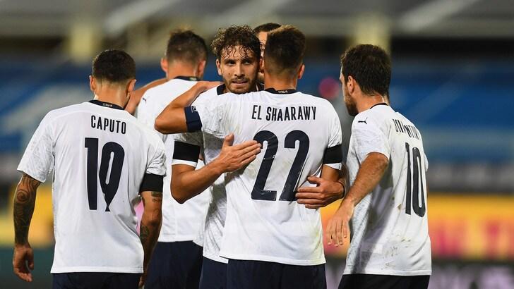 Italia-Moldova 6-0: doppietta El Shaarawy, primi gol di Berardi e Caputo