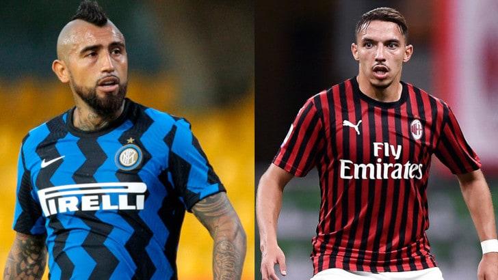 Milan-Inter si accende: grinta Vidal, fosforo Bennacer