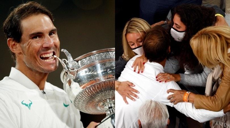 Il trionfo di Nadal al Roland Garros e l'abbraccio alla famiglia